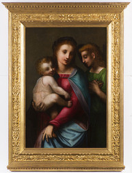 Madonna and Child With Guardian Angel