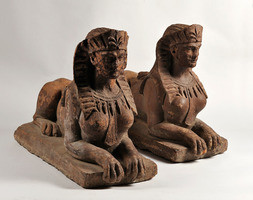 Pair of Terracotta Sphinxes