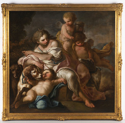Diana with Dogs and Putti