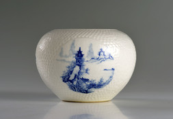 A BLUE AND WHITE 'LANDSCAPE' BRUSHWASHER