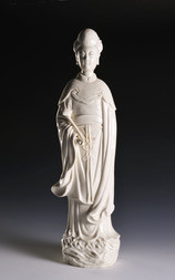A BLANC-DE-CHINE FIGURE OF A LADY WITH RUYI SCEPTER