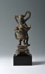A BRONZE FIGURE OF A HEAVENLY GENERAL