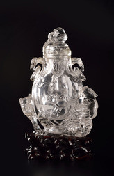 A ROCK CRYSTAL LIDDED VASE