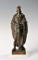 A STANDING FIGURE OF ST. WENCESLAS