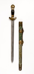 A JIAN WITH DECORATED BLADE