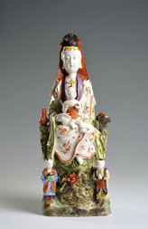 A DEHUA FIGURE OF GUANYIN AS THE 'BRINGER OF SONS'