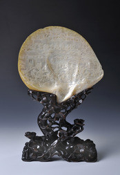 A FINE MOTHER OF PEARL CARVING