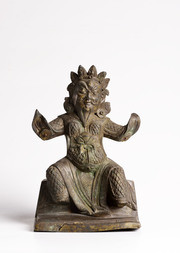 A BRONZE FIGURE OF LOKAPALA