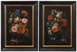 A PAIR OF FLORAL STILL LIFES