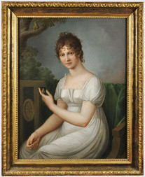 PORTRAIT OF A WOMAN IN A WHITE DRESS