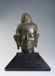 A BRONZE HEAD OF AVALOKITESHVARA