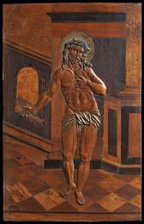 STOJÍCÍ KRISTUS - CHEBSKÁ RELIÉFNÍ INTARSIE (ČECHY)