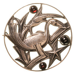BROOCH WITH PELICAN