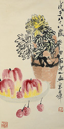 CHRYSANTHEMUMS, APPLES AND LYCHEE