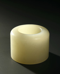 A PALE JADE ARCHER'S RING
