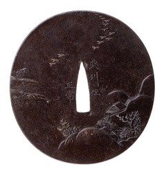 A ROUND IRON TSUBA