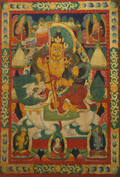 A THANGKA OF KUBERA, THE LORD OF WEALTH