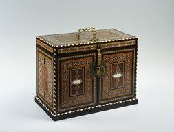 A QAJAR JEWELLERY BOX