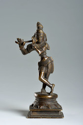 A BRONZE FIGURE OF VENUGOPALA