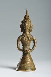 A BRONZE FIGURE OF LAKSHMI