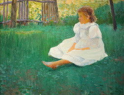 GIRL IN THE GARDEN.