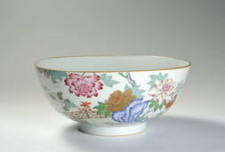 A LARGE FAMILLE ROSE PUNCH BOWL
