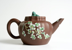A YIXING TEAPOT AND COVER