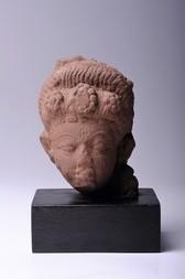 A STONE HEAD OF THE GODDESS PARVATI