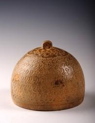 A CERAMIC COPY (MINGQI) OF A BRONZE LING BELL