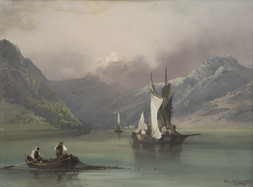 Lake Scene With Boats
