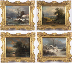 Four Landscape Paintings