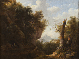 Landscape with St Jerome praying