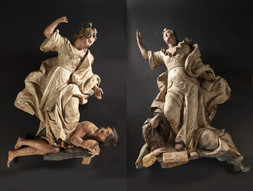 Two Allegorical Sculpture Groups - The Victory of Faith