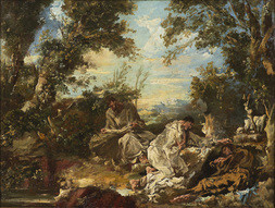 Monks in a Landscape