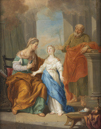Saint Anne, Saint Joachim, and the Virgin Mary