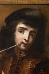 Chlapec s dýmkou