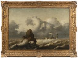 Lodě na rozbouřeném moři