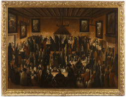 Kasino v sále Ridotto v paláci Dandolo v Benátkách