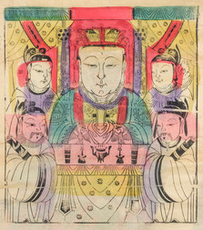 A GROUP OF SIX COLOUR WOODBLOCK PRINTS FROM THE BEIJING REGION