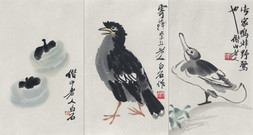A GROUP OF THREE COLOR WOODBLOCK REPRODUCTIONS.