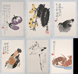 A GROUP OF SIX COLOR WOODBLOCK REPRODUCTIONS