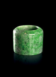 A JADEITE ARCHER'S RING