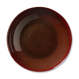 A FINE COPPER-RED-GLAZED DISH