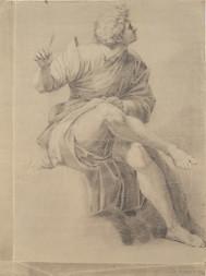 Kresba písaře z okruhu pražské akademie