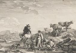 Pastorální scéna dle Nicolause P. Berchema