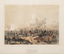 Soubor 7 litografií s tématikou vojenských úspěchů rakouské armády