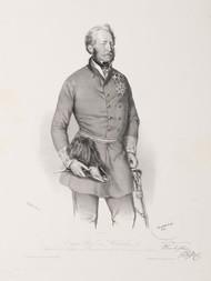 Soubor tří litografií: Eugen Hrabě Wratislav, August Hrabě Degenfeld-Schonburg, a Franz Hrabě Wimpffen