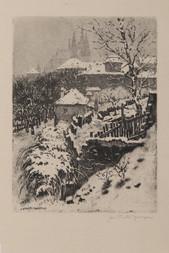 Pražský hrad v zimě