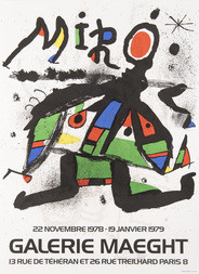 Plakát galerie Maeght výstava 22.11.1978-19.1. 1979