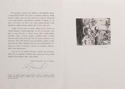 Pamětní list vydaný Spolkem českých bibliofilů k besedě se zasloužilým umělcem Adolfem Branaldem v Praze dne 18. října 1985 k poctě jeho 75. narozenin